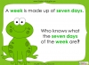 Days of the Week - Year 1 Teaching Resources (slide 3/60)