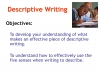 Descriptive Writing Teaching Resources (slide 2/91)