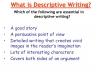 Descriptive Writing Teaching Resources (slide 3/91)