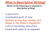 Descriptive Writing Teaching Resources (slide 4/91)