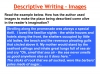 Descriptive Writing Teaching Resources (slide 48/91)