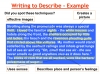 Descriptive Writing Teaching Resources (slide 50/91)