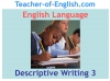 Descriptive Writing Teaching Resources (slide 71/91)