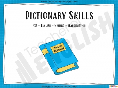 Dictionary Skills - KS3 Teaching Resources