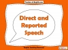 Direct and Reported Speech Teaching Resources (slide 1/13)