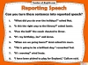 Direct and Reported Speech Teaching Resources (slide 10/13)