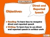 Direct and Reported Speech Teaching Resources (slide 2/13)