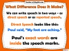 Direct and Reported Speech Teaching Resources (slide 3/13)