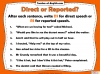 Direct and Reported Speech Teaching Resources (slide 7/13)