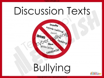 Discussion Texts - Bullying