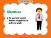 Double Negatives Teaching Resources (slide 2/13)