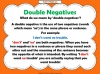 Double Negatives Teaching Resources (slide 3/13)