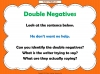 Double Negatives Teaching Resources (slide 4/13)