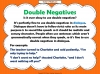 Double Negatives Teaching Resources (slide 5/13)