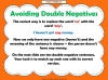 Double Negatives Teaching Resources (slide 7/13)