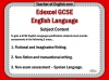 Edexcel 9-1 GCSE English Exam - Paper 1 and Paper 2 Teaching Resources (slide 254/449)