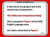 Edexcel 9-1 GCSE English Exam - Paper 1 and Paper 2 Teaching Resources (slide 255/449)