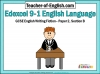 Edexcel 9-1 GCSE English Exam - Paper 1 and Paper 2 Teaching Resources (slide 357/449)