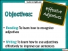 Effective Adjectives (slide 2/11)