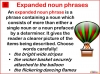 Expanded Noun Phrases (slide 2/6)