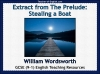Extract from The Prelude - Stealing a Boat Teaching Resources (slide 1/48)