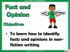 Fact and Opinion (slide 2/8)