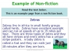 Fiction and Non-fiction (slide 4/12)