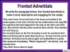 Fronted Adverbials (slide 18/21)