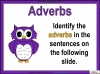 Fronted Adverbials (slide 5/21)