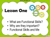 Functional Skills English - EL1 Teaching Resources (slide 3/159)