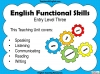 Functional Skills English - Entry Level 3 Teaching Resources (slide 2/150)