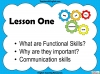 Functional Skills English - Entry Level 3 Teaching Resources (slide 3/150)