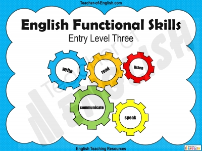Functional Skills English - Entry Level 3 Teaching Resources