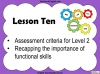 Functional Skills English Level 2 Teaching Resources (slide 109/117)