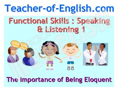 Functional Skills English Speaking & Listening
