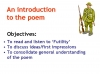 Futility (Wilfred Owen) Teaching Resources (slide 17/47)