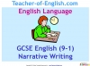 GCSE English (9-1) Narrative Writing (slide 1/149)
