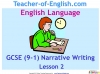 GCSE English (9-1) Narrative Writing (slide 23/149)