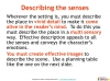 GCSE English (9-1) Writing Fiction - Descriptive Writing (slide 10/91)
