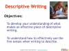 GCSE English (9-1) Writing Fiction - Descriptive Writing (slide 2/91)