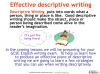 GCSE English (9-1) Writing Fiction - Descriptive Writing (slide 5/91)