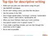 GCSE English (9-1) Writing Fiction - Descriptive Writing (slide 89/91)