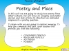 GCSE Poetry and Place Teaching Resources (slide 2/68)