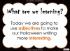 Halloween Adjectives Teaching Resources (slide 2/26)