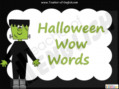 Halloween Wow Words