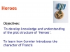Heroes (Robert Cormier) Teaching Resources (slide 16/126)