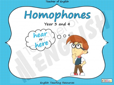 Homophones - Year 3 and 4