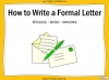 How to Write a Formal Letter - KS3