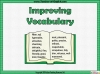 Improving Vocabulary Teaching Resources (slide 1/9)