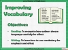 Improving Vocabulary Teaching Resources (slide 2/9)